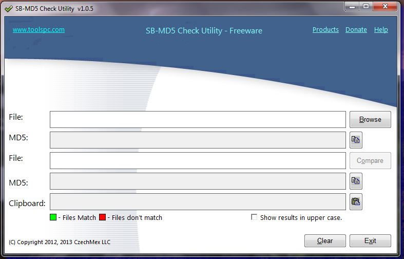 Click to view SM-MD5 Calculator 1.0.7 screenshot